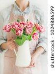 spring flowers arrangement....   Shutterstock . vector #1024886599