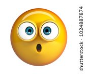 confused emoji. wow face... | Shutterstock . vector #1024887874
