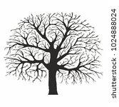 tree silhouette on white... | Shutterstock .eps vector #1024888024