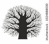 tree silhouette on white... | Shutterstock .eps vector #1024888030
