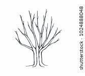 tree silhouette on white... | Shutterstock .eps vector #1024888048