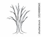 tree silhouette on white... | Shutterstock .eps vector #1024888060
