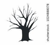 tree silhouette on white... | Shutterstock .eps vector #1024888078