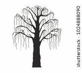 tree silhouette on white... | Shutterstock .eps vector #1024888090