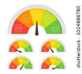 customer satisfaction meter... | Shutterstock .eps vector #1024888780