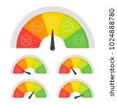 customer satisfaction meter... | Shutterstock .eps vector #1024888780