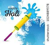 happy holi festival colors | Shutterstock .eps vector #1024889578