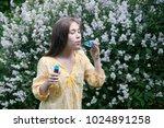 beautiful teenager girl and... | Shutterstock . vector #1024891258