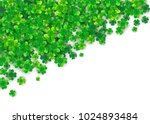 clover background with four... | Shutterstock .eps vector #1024893484