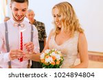 the bride and groom light up a... | Shutterstock . vector #1024894804