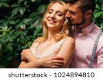a pretty girl closed her eyes... | Shutterstock . vector #1024894810