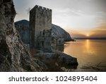 stronghold on the danube travel ... | Shutterstock . vector #1024895404