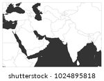 political map of south asia and ... | Shutterstock .eps vector #1024895818