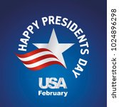 happy presidents day usa logo... | Shutterstock .eps vector #1024896298