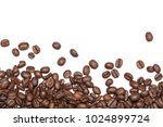 coffee beans shot close up with ... | Shutterstock . vector #1024899724