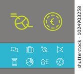 business strategy icons set...