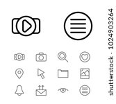 network icons set with send...