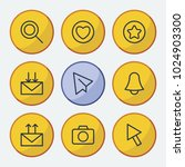 network icons set with receive...