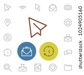 network icons set with paper...