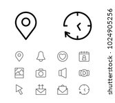 network icons set with pin ...