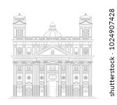 the architectural drawing of an ... | Shutterstock .eps vector #1024907428