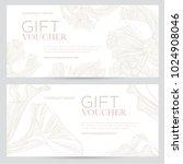 gift voucher. elegant festive... | Shutterstock .eps vector #1024908046