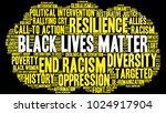 black lives matter word cloud... | Shutterstock .eps vector #1024917904