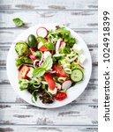 colorful summer salad. salad...   Shutterstock . vector #1024918399