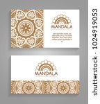 mandala boho style flyers | Shutterstock .eps vector #1024919053