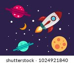 theme of space. cosmic objects... | Shutterstock .eps vector #1024921840