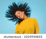 mixed race black woman portrait ... | Shutterstock . vector #1024934833