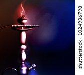 vector illustration of a hookah ... | Shutterstock .eps vector #1024936798
