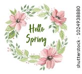 greeting card with flowers ... | Shutterstock . vector #1024938880