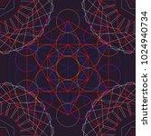seamless trendy metatrons cube  ... | Shutterstock .eps vector #1024940734