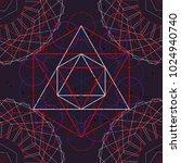 seamless trendy metatrons cube  ... | Shutterstock .eps vector #1024940740