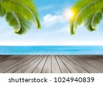 vacation background. beach with ... | Shutterstock .eps vector #1024940839