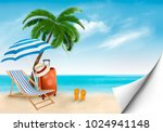 seaside vacation vector. travel ... | Shutterstock .eps vector #1024941148