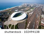 aerial view of durban city ... | Shutterstock . vector #102494138
