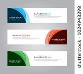 abstract modern banner...   Shutterstock .eps vector #1024943398