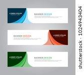 abstract modern banner... | Shutterstock .eps vector #1024943404