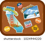 california and colorado travel... | Shutterstock .eps vector #1024944220