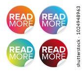 read more button set label | Shutterstock .eps vector #1024948963