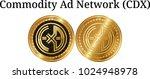 set of physical golden coin... | Shutterstock .eps vector #1024948978