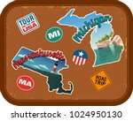 massachusetts  michigan travel... | Shutterstock .eps vector #1024950130