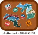 massachusetts  michigan travel... | Shutterstock .eps vector #1024950130