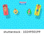 top view vector banner with... | Shutterstock .eps vector #1024950199