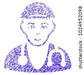 grunge physician doctor rubber... | Shutterstock .eps vector #1024952098