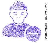 grunge delete user rubber seal... | Shutterstock .eps vector #1024952290