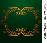 classical baroque vector of... | Shutterstock .eps vector #1024953343