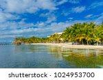 astonishing beach with... | Shutterstock . vector #1024953700